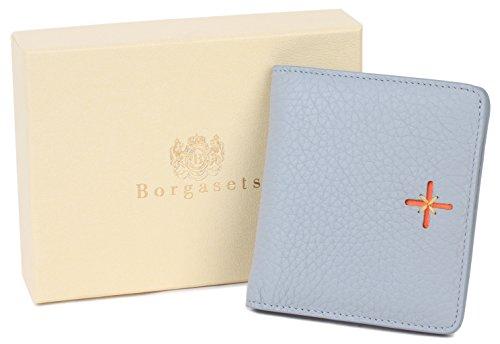 Borgasets Womens Leather Small Bi-fold Slim Purse