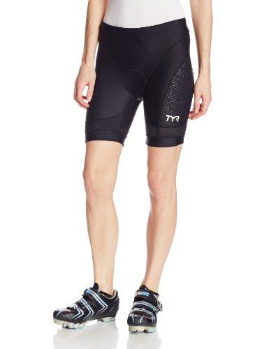 TYR Sport Women's Sport Competitor 6-Inch Tri Compression Shorts (Black, - Shorts Women Triathlon