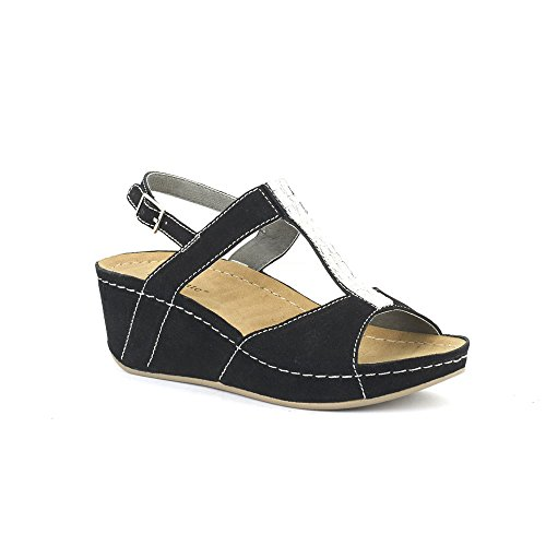 David Tate - Womens Bubbly Sandals Black Suede, Size-7M