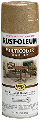 Rust-Oleum 239120 Multi-Color Textured Spray Paint, 12 oz, Radiant Brass