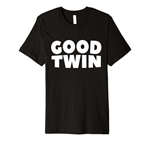 Good Twin Halloween Funny Shirt Twins Best Friend Costume