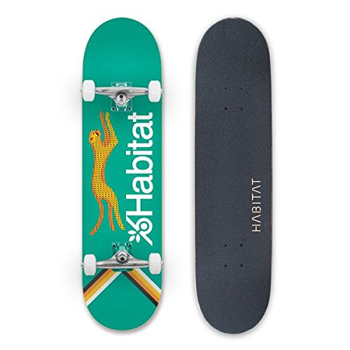 HABITAT SKATEBOARDS Velocity Complete Standard Skateboard, 8, Multicolor