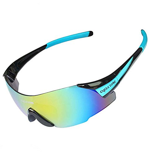 [Blue Sunshine Unisex Rimless Clearly Clorful Outdoor Sports UV400 Sunglasses(K3)] (Neo Costumes Sunglasses)