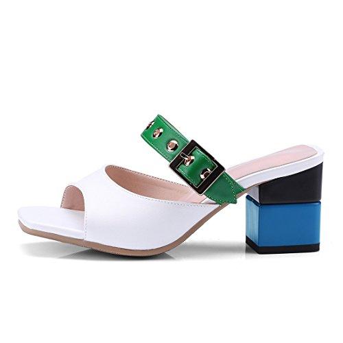 fibbia pantofole sandali pantofole capi sandali le 35 green piazza i gdZwYYx