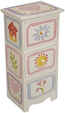 MONTEMAGGI Mueble con cajones de madera 3 pintado a mano en ...
