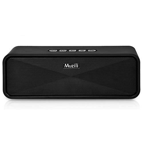 Muzili Bluetooth luidspreker, draadloos, draagbare speakers, dual driver, sterke bas, draadloze speakers met 10 uur…