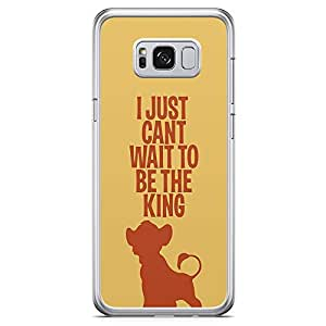 Loud Universe Cant wait to be King Simba Samsung S8 Plus Case The Lion King Samsung S8 Plus Cover with Transparent Edges