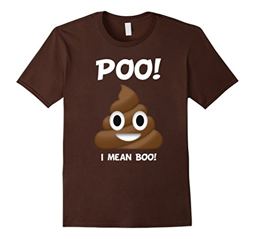 Mens POO! Halloween Poop Costume Tshirt I Mean BOO! Large Brown - Boo Halloween Costume