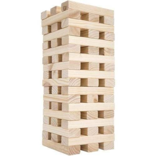 Fat Girl Costume Walmart (Giant Tumbling Timbers Wooden Blocks Tower Stacking Great Game for Kids Gift NEW)