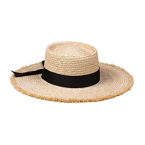 Lack of Color Women's Ventura Raffia Straw Wide-Brimmed Boater Hat