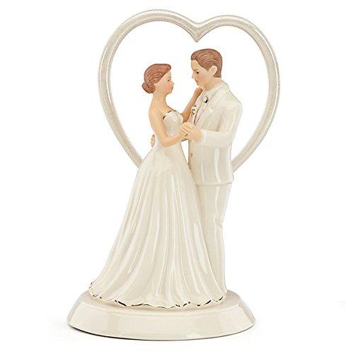 (Heart Wedding Cake Topper by Lenox)