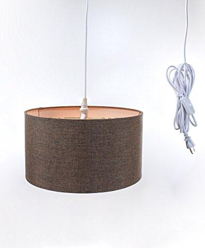 Brown Drum Shade Pendant Light - 8