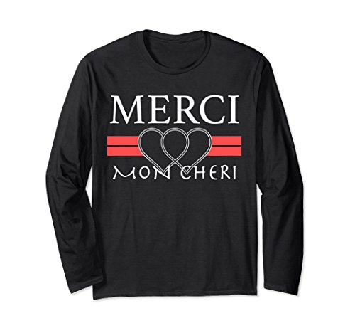 Unisex Merci Mon Cheri Long Sleeve T-shirt Small Black