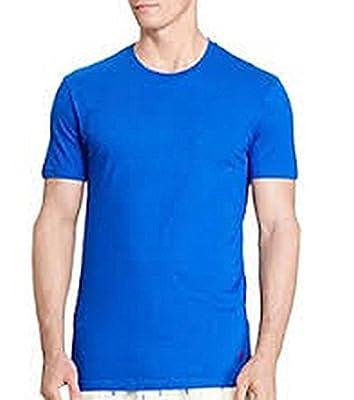 Calvin Klein Mens 3-PK Crew Neck Tee, Blue, M