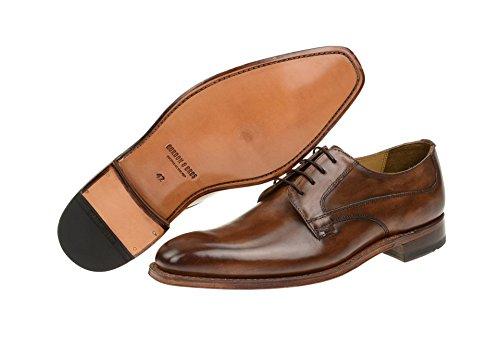 Gordon & Bros Zapatos de Cordones de Piel Para Hombre, Color Marrón, Talla 44