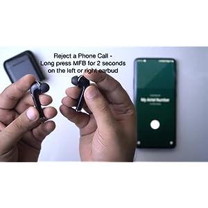 pTron Bassbuds Lite V2 in-Ear True Wireless Bluetooth Earpods (TWS) with Mic – (Black)