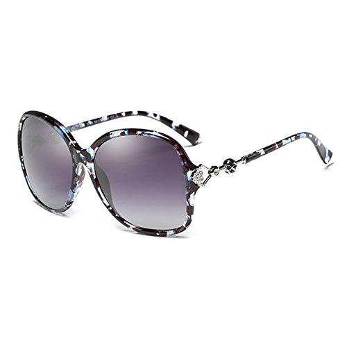 Gafas UVA Retro 100 Azul Conducción Decoración De De UV Redondo Marco Sra Polarizada De WYYY Protección Color Diamantes Luz gafas Anti Protección Imitación Gafas sol Negro Solar Clásico de nIB4f