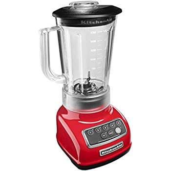 KitchenAid KSB1570ER 5-Speed Blender with 56-Ounce BPA-Free Pitcher - Empire Red