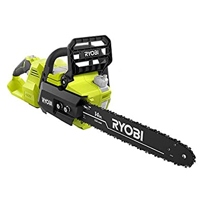 Ryobi 14 in. 40-Volt Baretool Brushless Lithium-Ion Cordless Chainsaw, 2019 Model RY40530, Li-Ion 40V, (Battery and Charger Not Included)
