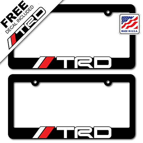 TRD (2) License Plate Frames Toyota Racing Development 3D Letter Frame Brackets (1-Pair) ()
