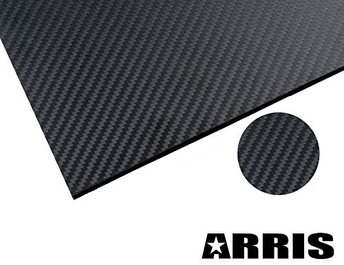 (ARRIS 200X300X2.0MM 100% 3K Carbon Fiber Plate Plain Weave Panel Sheet 2mm Thickness(Glossy Surface))