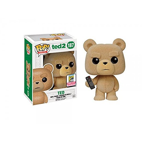 Funko Pop! Movies #187 Ted 2 Flocked Ted with Remote (SDCC 2015 Exclusive)