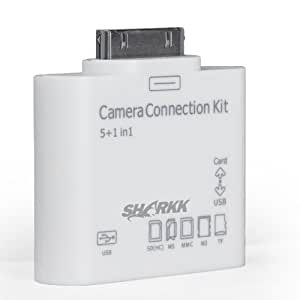 SHARKK® 5 in 1 Card Reader Connects Cameras, USB, & Memory Cards To iPad and iPad2 and The New iPad 3rd Generation (ONLY WORKS WITH PICTURE FILES)