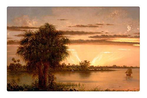 Tree26 Indoor Floor Rug/Mat (23.6 x 15.7 Inch) - Martin Heade Painting Oil On Canvas Art Artistic