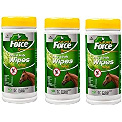 Manna Pro Nature's Force Face and Body Wipes for Fly Control, 40 Count (3 Pack)