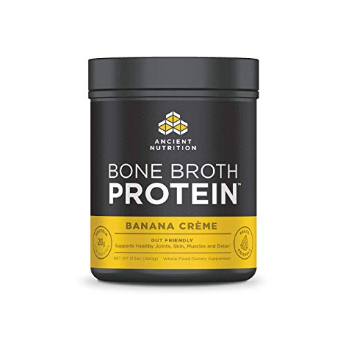 - Ancient Nutrition Bone Broth Protein Powder, Banana Creme Flavor, 20 Servings Size