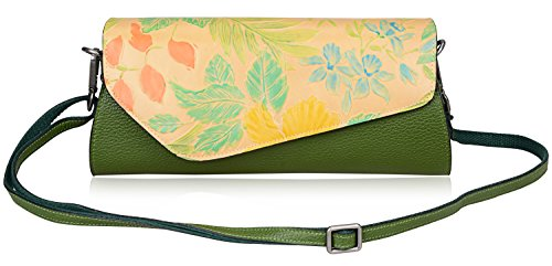Pijushi Designer Crocodile Clutch Purses Womens Evening Party Clutches Handbags 5001 (green yellow) by PIJUSHI