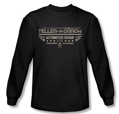 Sons Of Anarchy Shirt Teller Morrow Long Sleeve Black Tee T-Shirt (2XL)
