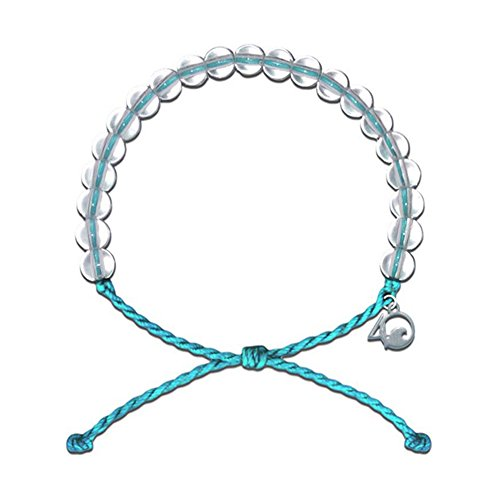 4Ocean Bracelet with Charm Made from 100% Recycled Material Upcycled Jewelry (Teal) ()