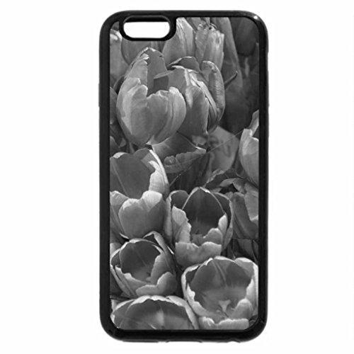 iPhone 6S Plus Case, iPhone 6 Plus Case (Black & White) - Beautiful Flowers