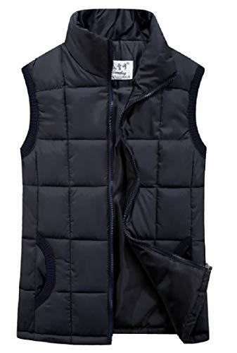 スチール巨大荷物chenshiba-JP レディースアウターウェアスタンドカラースリムフィット軽量ダウンベストパッドジャケット