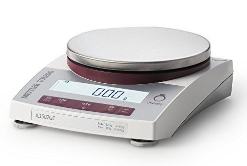 Mettler Toledo JL602-GE/A Gram Scale - Legal for Trade - Gram - Ounce - DWT - Jewelry Scale - 610 Gram Capacity - 0.01 Gram Readability With RS232 by Mettler Toledo