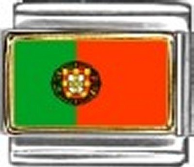 Portugal Photo Flag Italian Charm Bracelet Jewelry Link ()