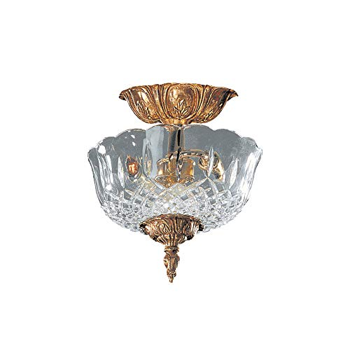 Crystorama 55-CT-OB Crystal Two Light Bathroom Lights from Richmond collection in Brassfinish,