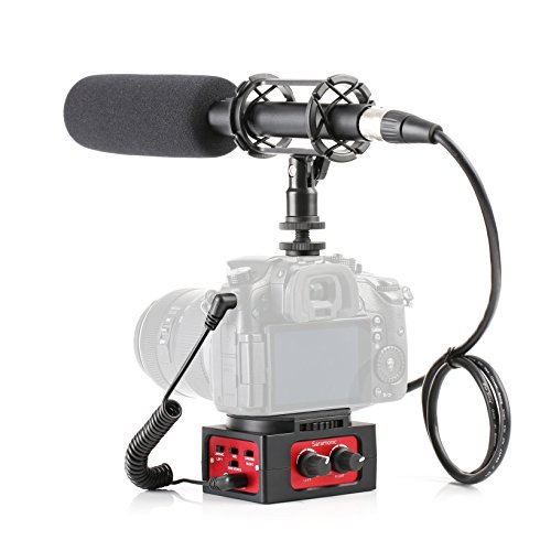 Movo Cinema Bundle with 11'' XLR Supercardioid Shotgun Video Microphone and 2-Channel Audio Mixer for DSLR Cameras & Camcorders by Movo