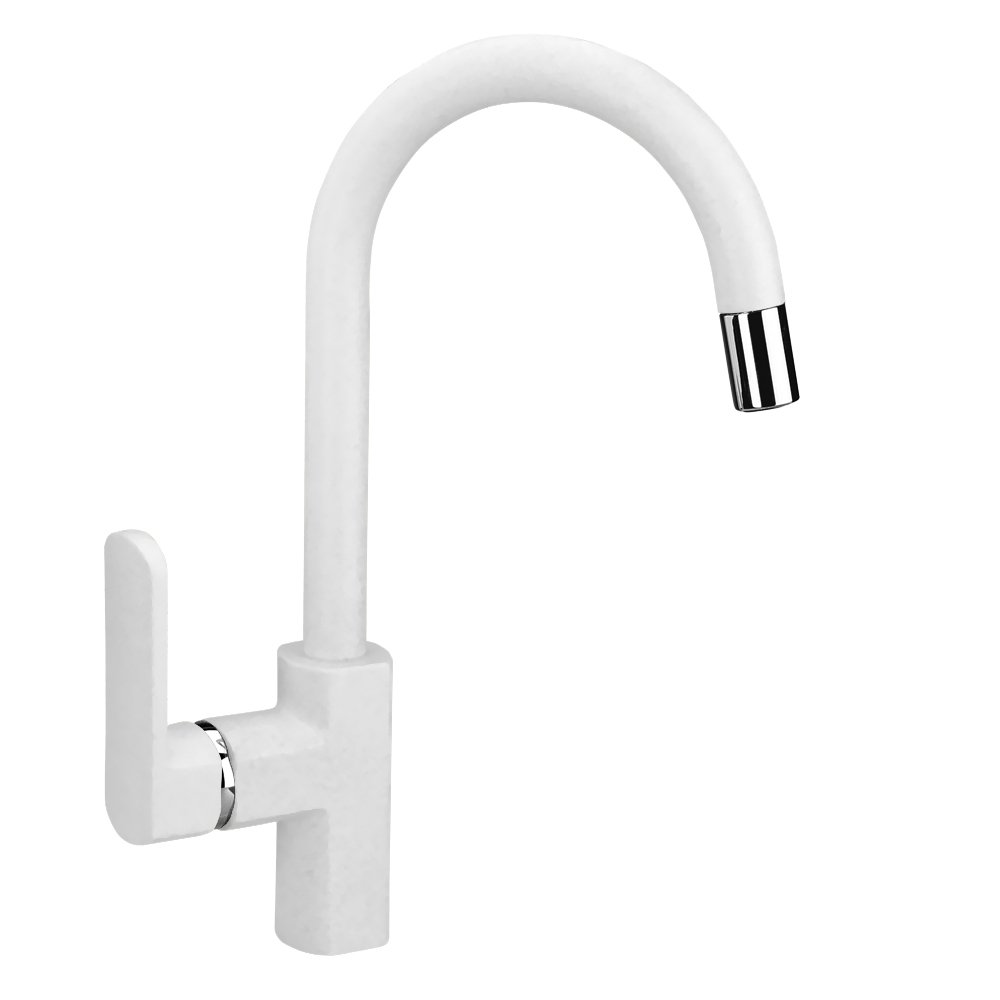 LaToscana PAMIX50E- 58UG Single Handle Pull-Down Bar Faucet, Milk White by La Toscana