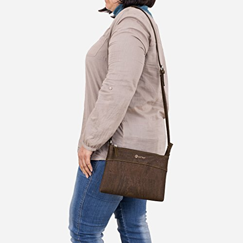 Brown Shoulder Bag For Corkor Woman Messenger Cork Bag Made Vegan Of agnZF