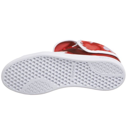Reebok Kvinner Top Down Sneaker Rød / Hvit