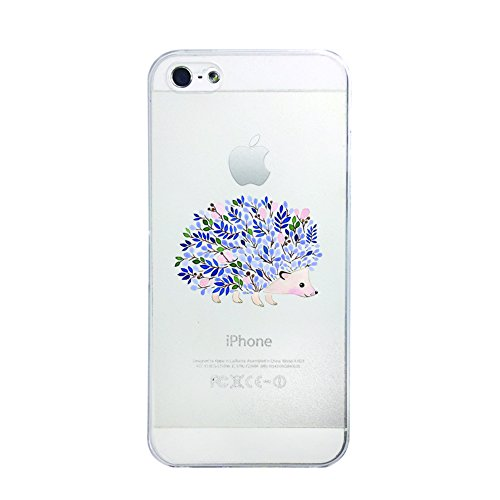Cute Hedgehog Pastel iphone 5C Clear Transparent