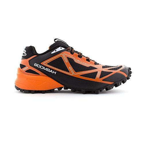 Scarpa Da Trail Boombah Mens Hellcat - 14 Opzioni Di Colore - Più Dimensioni Nero / Arancione