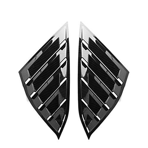 Side Quarter Window Louvers Compatible With 2018 Honda Accord | Factory Style Carbon Fiber Look ABS Panel By IKON MOTORSPORTS