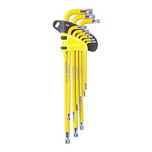 Arm Torx - WORKPRO W022012A Long Arm Torx Key Set, 9 Piece