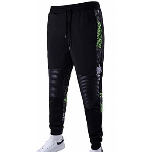 60%OFF KLJR Mens Print Jogging Hip Hop Jogger Sport Running Sweat Pants 709fe7406ae
