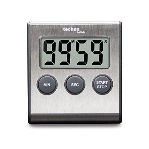 Technoline Küchenwecker, Plastik, Silber, 4.409 x 3.150 x1.339