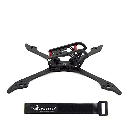 HGLRC Mefisto 226MM FPV Racing Drone Frame Kit 4MM Carbon Fiber Quadcopter Frame Arm +Battery Strap for 5 inch propellers 2207 2205 2306 Brushless Motor