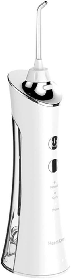 SWEET Irrigador Bucal Portatil Boquilla Giratoria 360 ° Irrigador Dental Profesional con 5 Boquillas MultifuncióN 3 Ajustes De PresióN 150 Ml Limpie Los Dientes De Manera Efectiva Y Pr